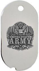United States Army Eagle Dog Tag Necklace
