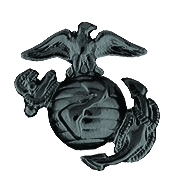 USMC ANCHOR RIGHT - BLACK (1 inch)