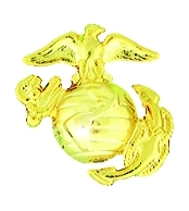 USMC ANCHOR RIGHT - GOLD (1 inch)