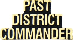 Past District Commander Script Pin (1 1/4 inch)