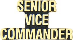 Senior (Sr) Vice Commander Script Pin (1 1/4 inch)