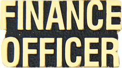 Finance Officer Script Pin (1 1/8 inch)