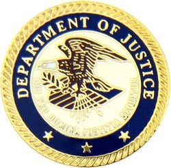 Department of Justice Insignia Pin (7/8 inch)