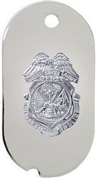 Army Military Police (MP) Dog Tag Key Ring