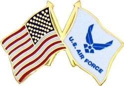 United States and United States Air Force Symbol Flag Pin (1 inch)