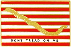 First Navy Jack Don't Tread On Me Pin (7/8 inch)