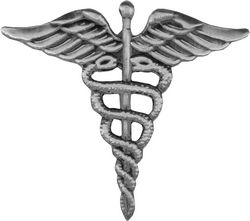 Hospital Corpsman (HM) Pin (1 1/4 inch)