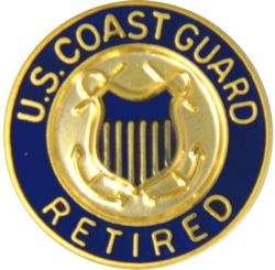 United States Coast Guard Retired Insignia Pin (5/8 inch)
