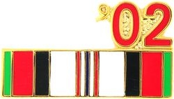 2002 Afghanistan Ribbon Pin (7/8 inch)