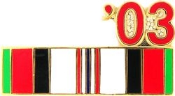 2003 Afghanistan Ribbon Pin (7/8 inch)