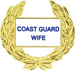 Coast Guard Wife with Wreath Pin (1 1/8 inch)