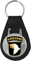 101st Airborne Division Leather Key Fob