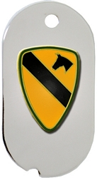 1st Cavalry Division Dog Tag Key Ring