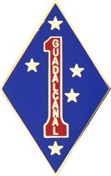 1st Marine Division Guadalcanal Pin (1 1/4 inch)