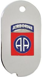 82nd Airborne Division Dog Tag Necklace