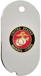 United States Marine Corps Insignia Dog Tag Necklace