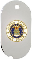 United States Air Force Emblem Dog Tag Necklace