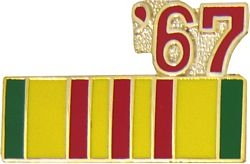 1967 Vietnam Ribbon Pin (7/8 inch)