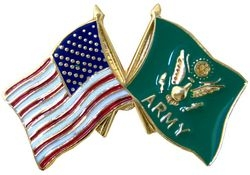 United States & Army Crossed Flags Pin (1 inch)