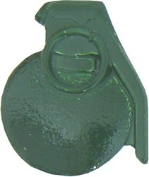 Baseball Grenade Pin - GREEN