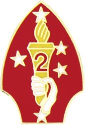 2nd Marine Division Pin (1 1/8 inch)