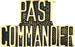 Past Commander Script Pin (1 1/4 inch)