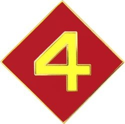 4th Marine Division Pin (3/4 inch)
