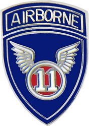 11th Airborne Division Pin (1 inch)