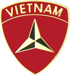 3rd Marine Division Vietnam Pin (1 inch)