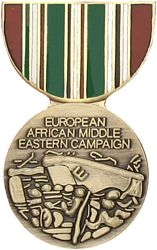 Europe-African-Middle Eastern Campaign Pin HP448 (1 1/8 inch)