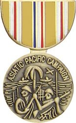 Asiatic Pacific Campaign Pin HP424 - 14963 (1 1/8 inch)