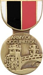Army of Occupation WWII Pin HP421 (1 1/8 inch)