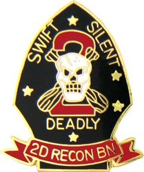 2nd Marine Recon Battalion Pin (1 inch)