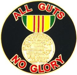 All Guts No Glory Pin (1 inch)
