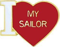 I Love My Sailor Pin (3/4 inch)