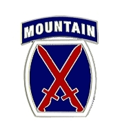 10th Mountain Division Pin (1 inch)