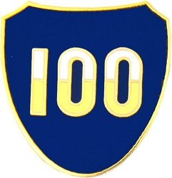 100th Infantry Division Pin (1 inch)