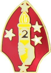 2nd Marine Division Pin (7/8 inch)