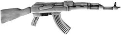 AK-47 Weapon Large Pin (2 1/4 inch)