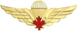 Canadian Paratrooper Large Pin (2 1/2 inch)