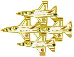 4 Thunderbirds Aircraft Large Pin (1 3/4 inch)