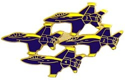 4 Blue Angel Aircraft Large Pin (1 3/4 inch)
