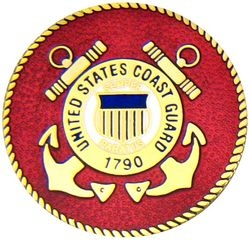 U S Coast Guard Large Pin (38MM inch)