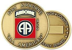 82nd Airborne Division Challenge Coin (38MM inch)
