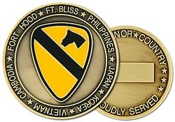 1st Cavalary Division Challenge Coin (38MM inch)