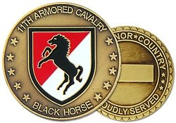11th Armored Cavalry Regiment Challenge Coin (38MM inch)