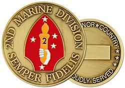 2nd Marine Division Challenge Coin (38MM inch)