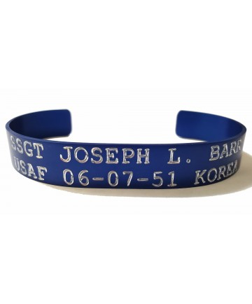 Blue POW/MIA Korea Bracelet - US ARMY