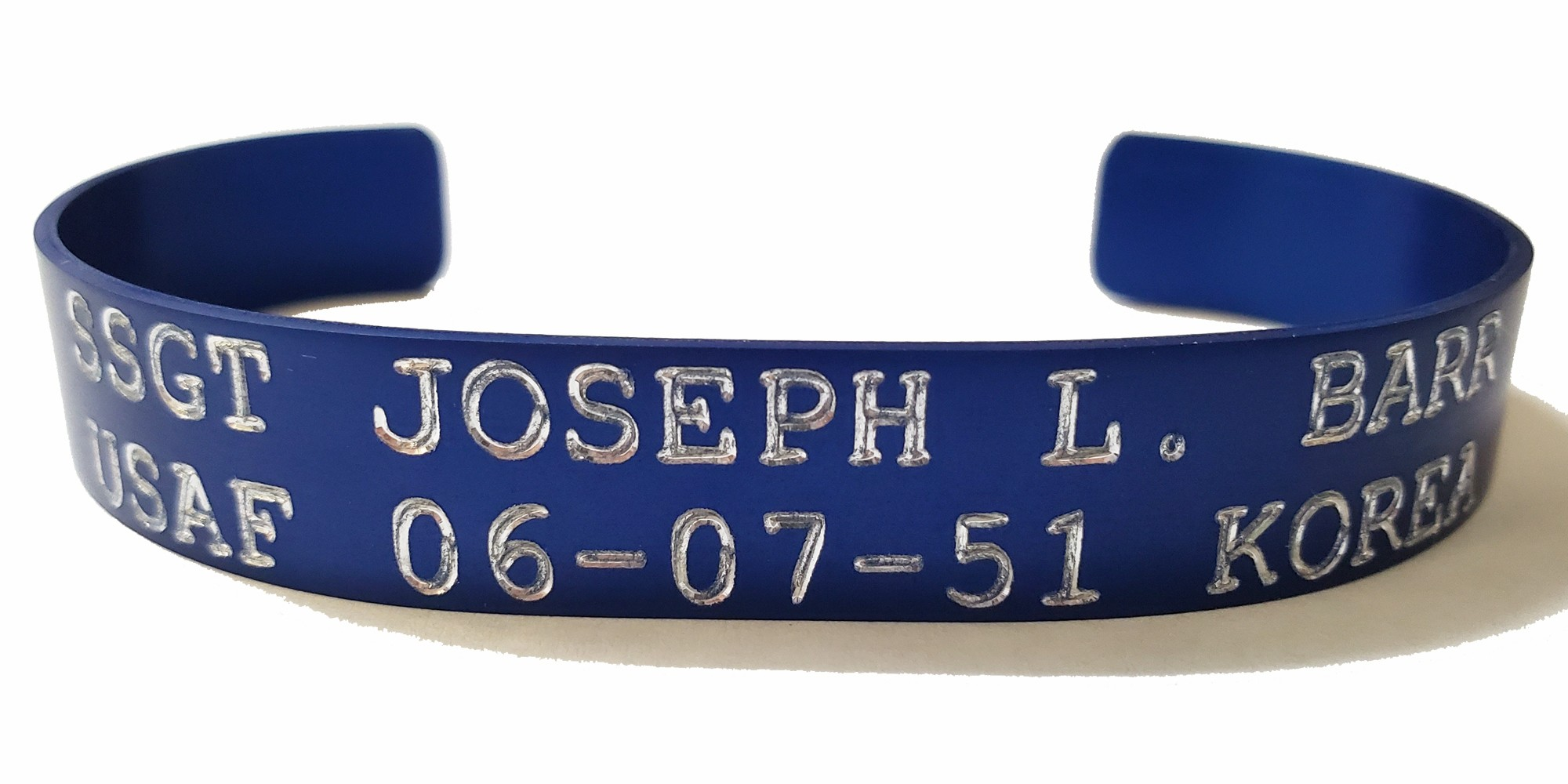 Blue POW/MIA Korea Bracelet - AIRFORCE