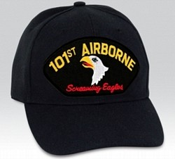 101st Airborne Screaming Eagles Black Ball Cap Import